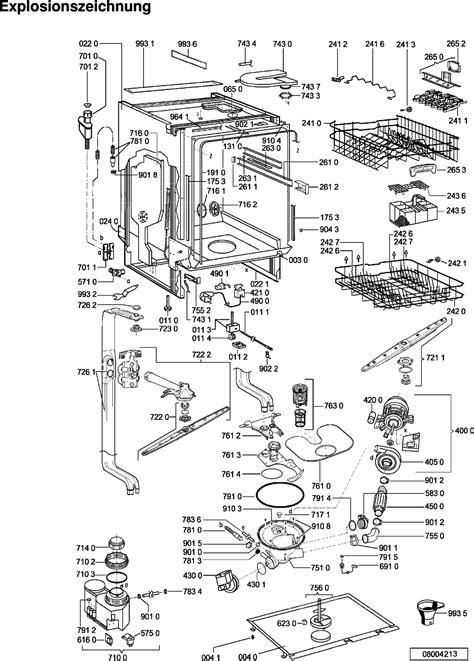 Einbau Geschirrspüler Miele 552 by Miele Geschirrsp 252 Ler Explosionszeichnung Dekoration Bild