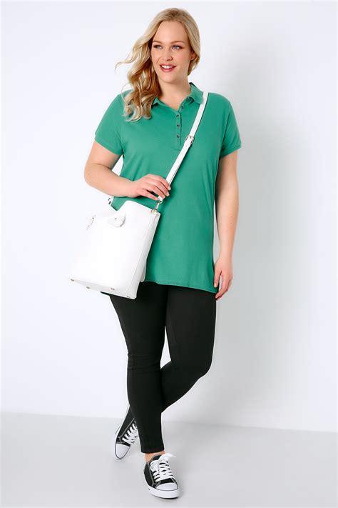 Tshirt Circle C3 t shirt de style polo vert jade