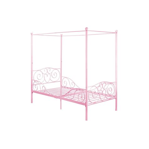 twin canopy bed frame canopy bed frame metal twin size bedroom furniture