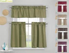 Ebay Kitchen Curtains Benneton Textured 3 Pc Kitchen Curtain Tier Valance Set Assorted Colors Ebay
