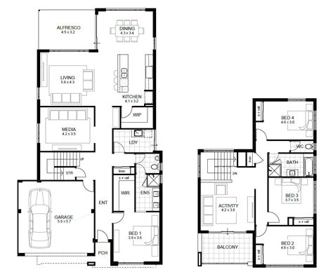 5 Bedroom Townhouse Floor Plans by 4 Bedroom Townhouse Designs Fourroom Plan Attractive