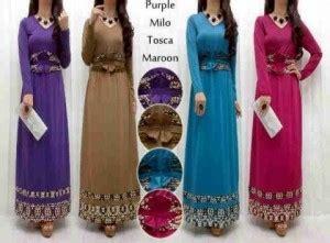 Dress Maxi Wanita Muslim Motif Kiara Fit Jumbo maxi dress s120 spandex korea kombi songket obi baju muslim wanita
