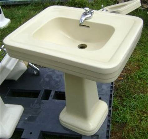 Ivory Pedestal Sink Crane Quot India Ivory Quot Lavatory Recycling The Past