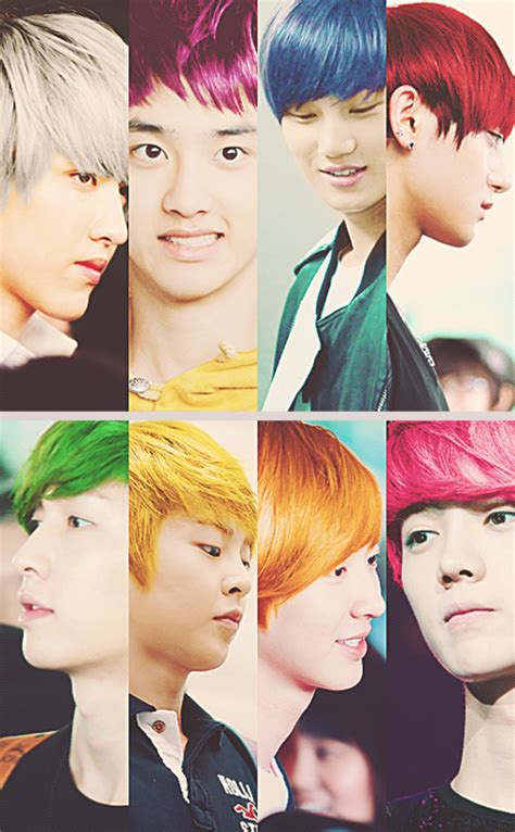 exo hair color treatment quot exost quot exo s new hair color