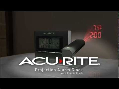 acurite projection alarm clock with atomic time temperature 13239