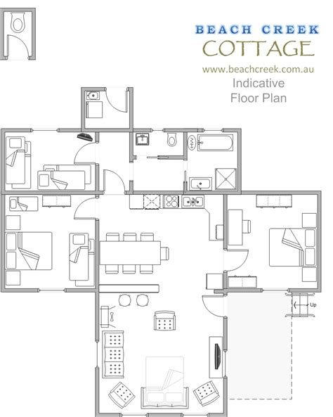 Beach Cottage Floor Plans by Our Property Beach Holiday Houses In Seaspray Inverloch