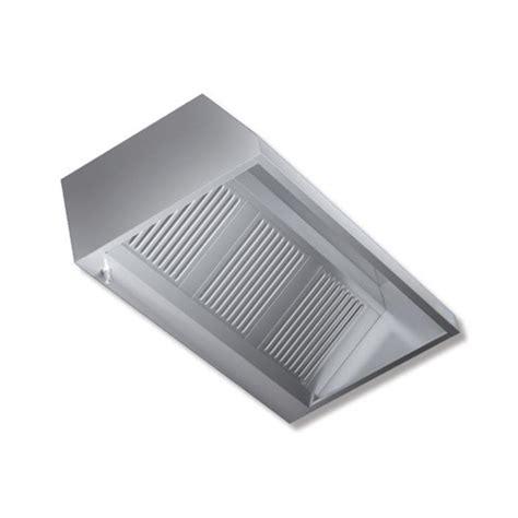 cappa cucina ristorante cappa 280x90x45 acciaio inox parete neutra cucina