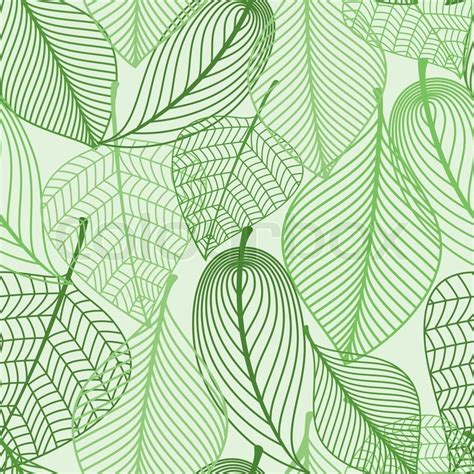 green wallpaper with leaf pattern summer or spring foliage green tree leaves seamless
