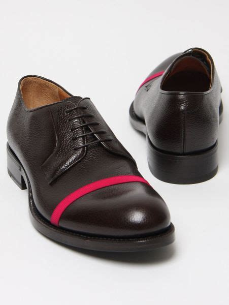 formal wear raf simons brown leather shoe w pink in brown for lyst