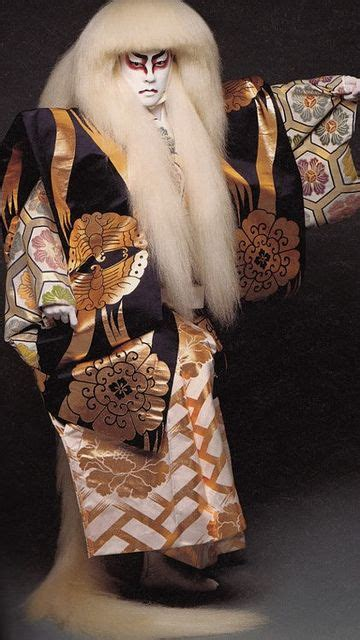 New Bando Wig Axela the kabuki theatre i like the large wig as it frames his perfectly and adds definition