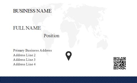 business card map template world map business card template