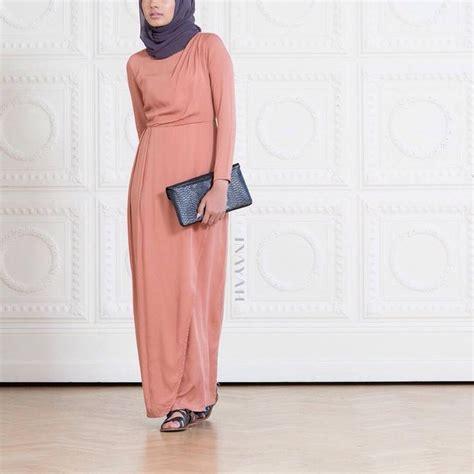 Inayah Maxy inayah apricot maxi tulip dress plum georgette