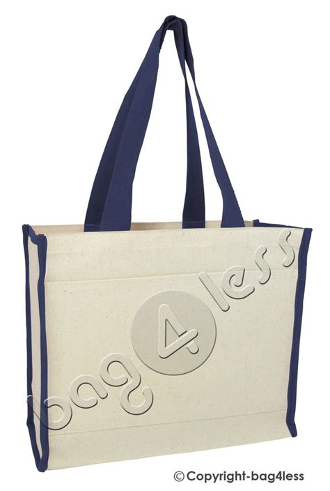 Tote Bag Canvas Murah 2 heavy canvas gusset tote bag two tone tf211 bag4less