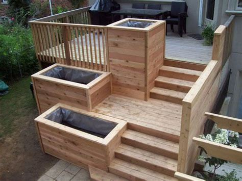 Deck Post Planters by Best 10 Deck Planters Ideas On Garden Privacy