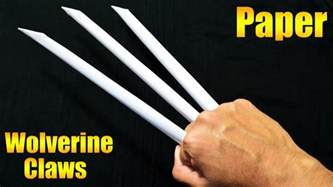 How To Make Origami Wolverine Claws - how to make paper wolverine claws paper claws