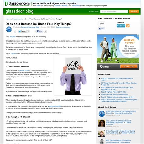 Glassdoor Resume by 23 Best Images About Resume Tips On Search