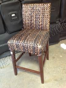 Pottery Barn Wicker Bar Stools Pottery Barn Woven Seagrass Barstool Brown Chair