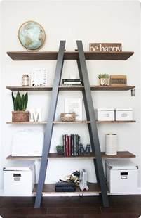 Ladder Bookcase Diy Ladder Bookshelf For Craft Storage