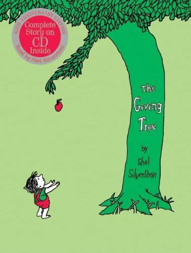s snowy tu b shevat books the giving tree 40th anniversary edition book with cd