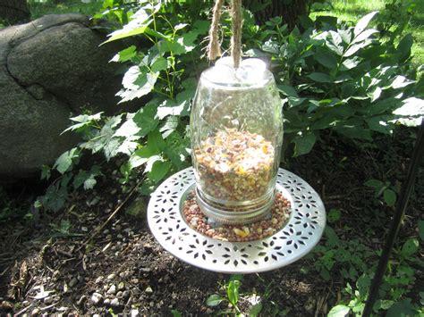 How To Make Jar Bird Feeder diy jar bird feeder birdcage design ideas