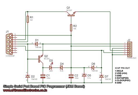 serial port pic programmer circuit diagram a simple pic programmer