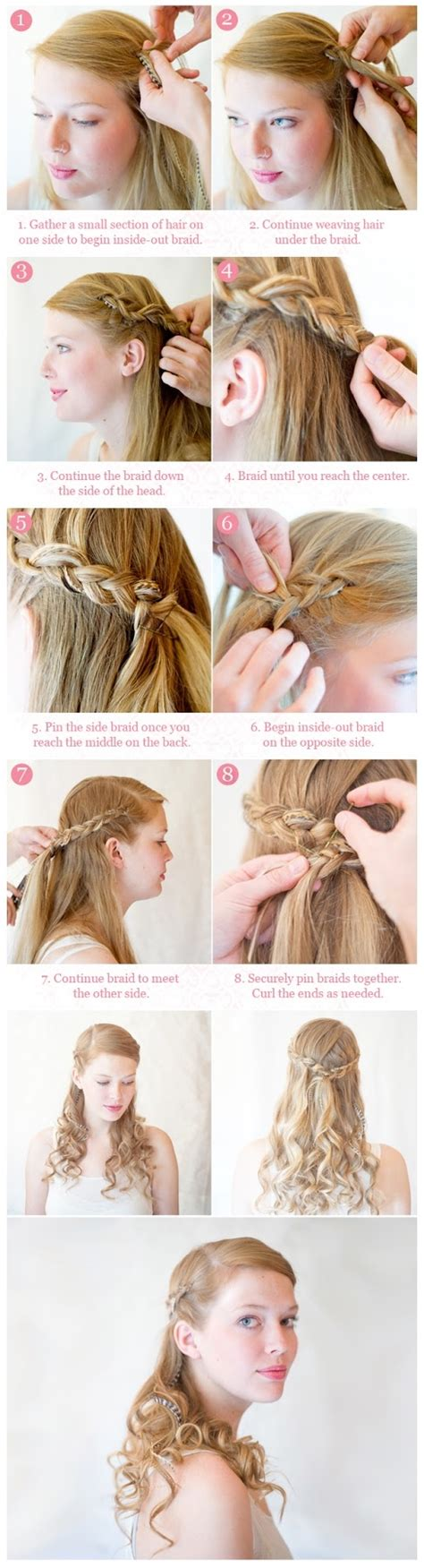 diy hairstyles half up diy inside out half up braid hairstyle pictures photos