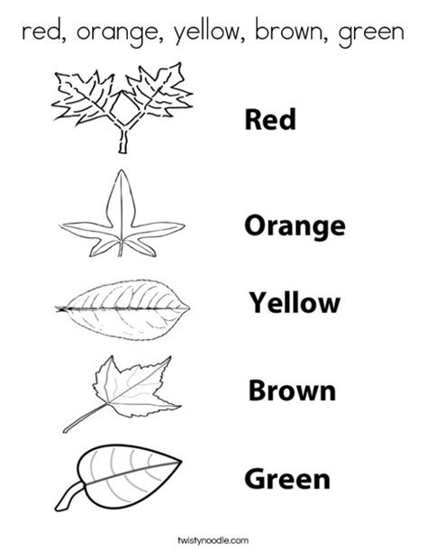 preschool coloring pages color green red orange yellow brown green coloring page twisty