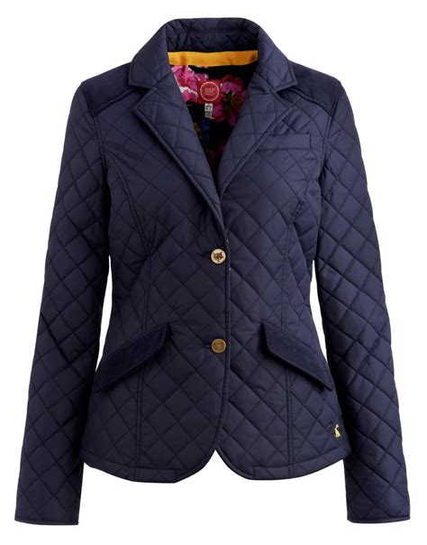 Navy Quilted Jacket by Joules Ladies Hton Quilted Jacket Navy O Hton Ebay