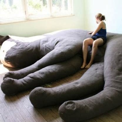 giant cat couch so how many of you want this cat couch in your living room