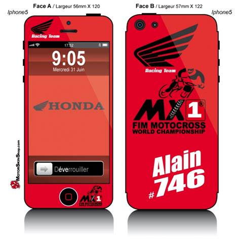 sticker honda racing sticker iphone 5 honda racing team