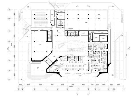 floor plan of office building dominion office building in moscow zaha hadid architects