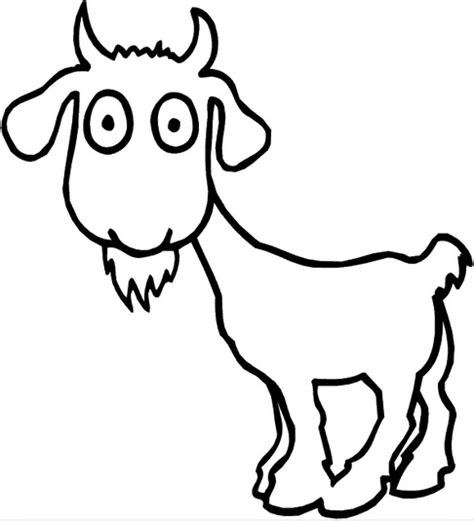 cartoon goat coloring page printable cartoon goat coloring page coloringpagebook com