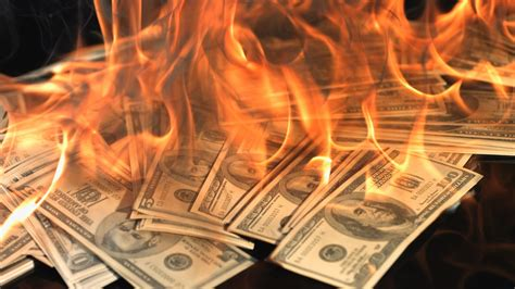 new year money burning money burn in 35 seconds