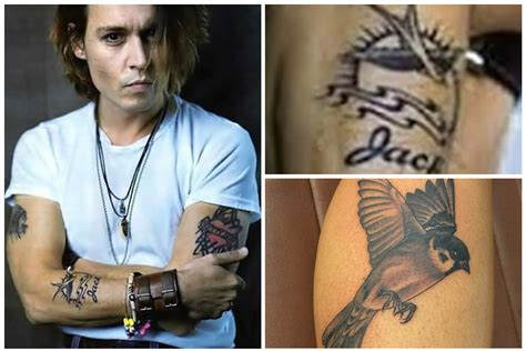 johnny depp s jack sparrow tattoo real johnny depp jack sparrow tattoo www pixshark com