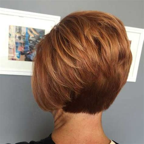 stacked cut hairstyle for older women popular short stacked haircuts you will love short