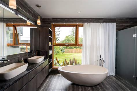 ultra modern bathrooms ultra modern bathroom vanity in polytec doors in char oak