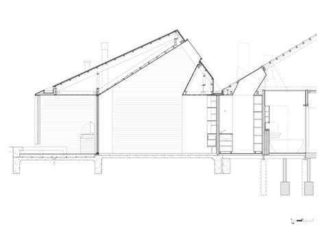 cross section design skylight house andrew burges architects archdaily