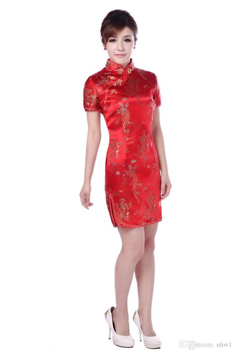 pictures of short chinese women at 49 years old short lady party clothing dragon brocade short dress