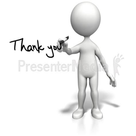 Stick Figure Drawing Thank You Signs And Symbols Great Clipart For Presentations Www Thank You Clipart For Powerpoint