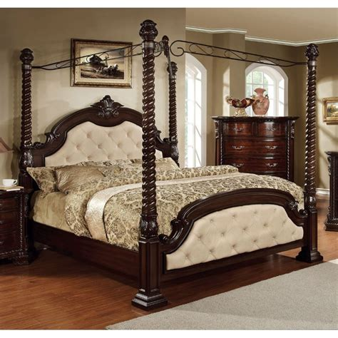 california king canopy bedroom sets furniture of america cathey 4 piece california king canopy