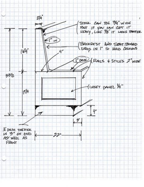 dimensions for bench seating i like this design not sure of the height dimensions we