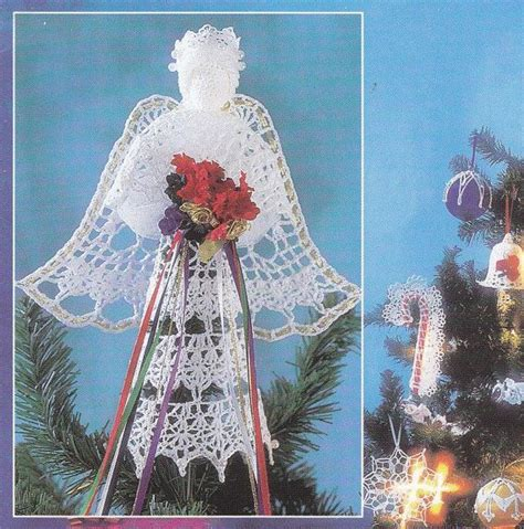 crochet pattern christmas tree topper 165 best images about crocheted tree skirt on pinterest