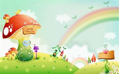 wallpaper cantik kartun gambar dunia kartun fantasi yang cantik cantik