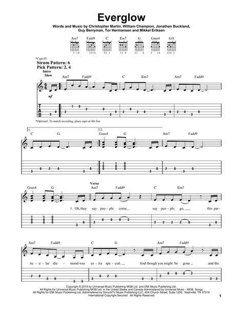 coldplay everglow piano sheet coldplay everglow sheet music