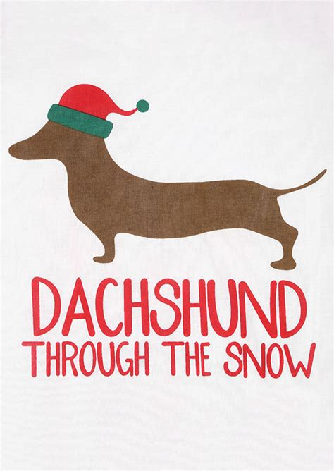 bantal dachshun thru the snow dachshund through the snow baseball t shirt