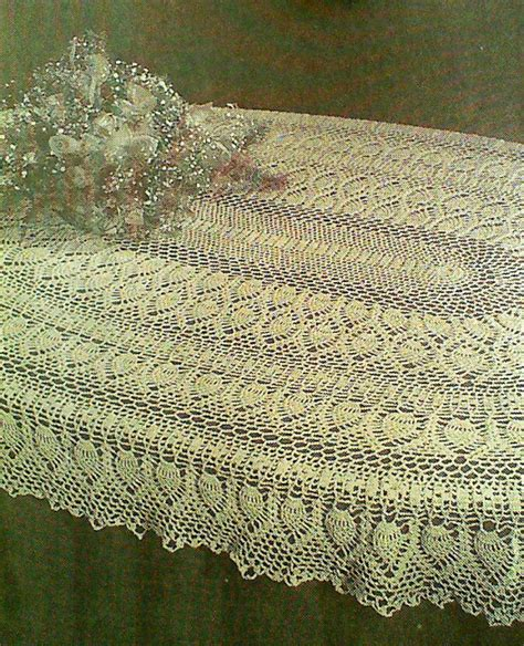 pattern crochet tablecloth vintage crocheted oval pineapple tablecloth pattern