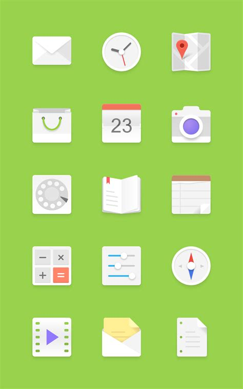 free icons for android light android icons set graphicburger