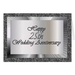 happy 25th wedding anniversary greeting card zazzle