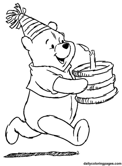 Coloring Pages Winnie The Pooh by Winnie The Pooh Coloring Pages Birthday