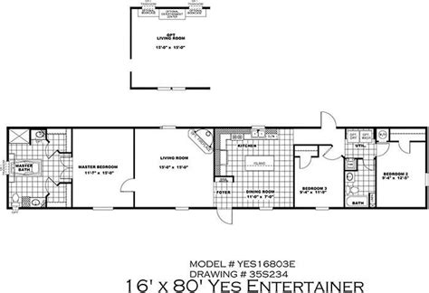16 x 80 mobile home floor plans clayton yes series